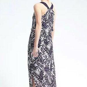 Banana Republic Pleated Double Layered Maxi Dress